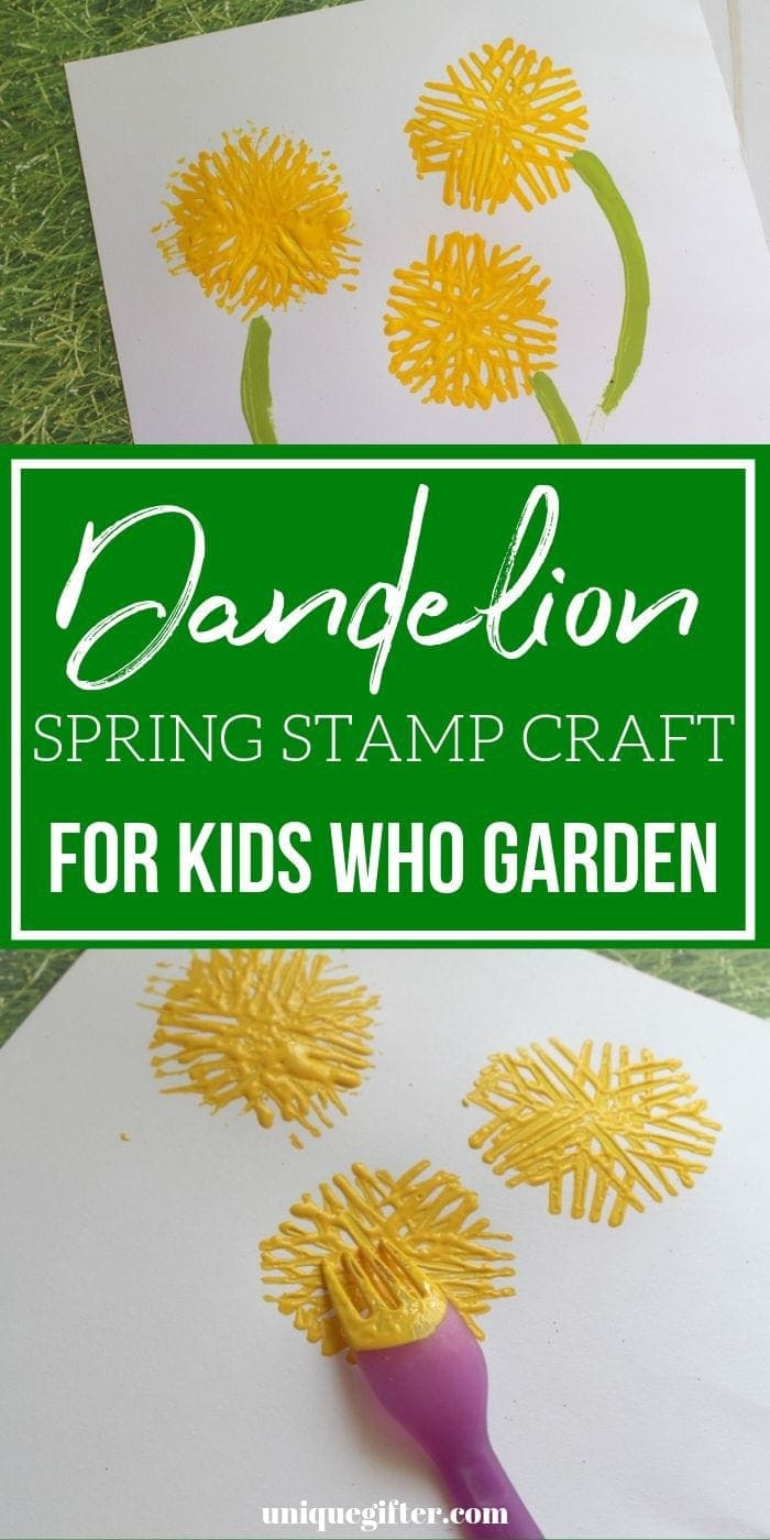 Fork Stamped Dandelion Crafts | Crafts For Kids | Kids Crafts | Unique Crafts | Creative Crafts | Kids Art Project | Art | Kids Art | Unique Kids Art | Unique Kids Crafts | Fun Kids Crafts | #crafts #unique #kids #art #easy