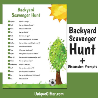 Free Printable Scavenger Hunt For The Backyard | Kids Scavenger Hunts | Fun Scavenger Hunts For Kids | Entertaining Scavenger Hunts | Unique Scavenger Hunts | Children's Activities | Activities For Kids | #activities #scavengerhunt #kids #fun #unique