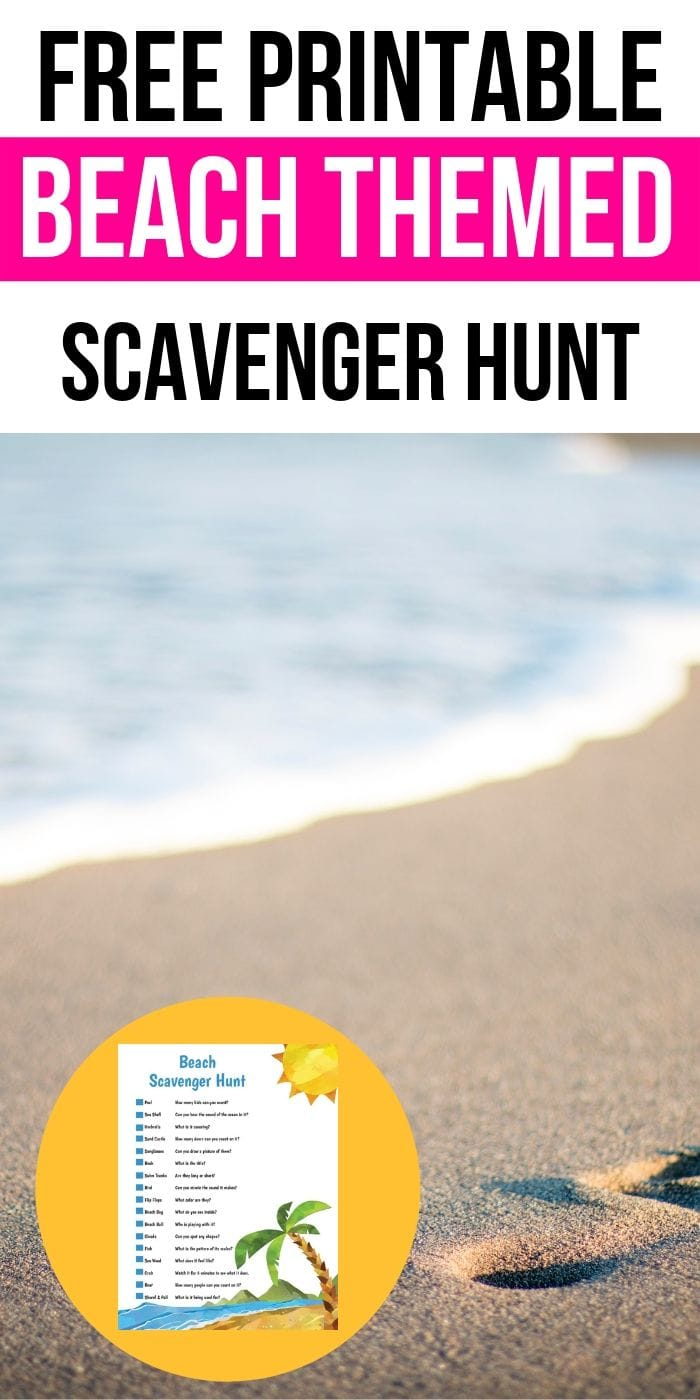 Free Printable Scavenger Hunt For The Beach | Beach Scavenger Hunt | Kids Scavenger Hunt | Easy Scavenger Hunt | Fun Scavenger Hunt | Entertaining Scavenger Hunt | Beach Scavenger Hunt | Vacation Scavenger Hunt | Outdoor Scavenger Hunt | #scavengerhunt #kids #activity #summer #fun
