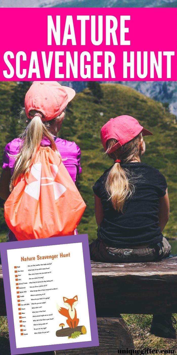 FREE Printable Nature Scavenger Hunt | Scavenger Hunt | Nature For Kids | Kids Scavenger Hunts | Kid Activity | Fun Activity For Kids | Child Scavenger Hunt | #scavengerhunt #easy #kids #fun #nature