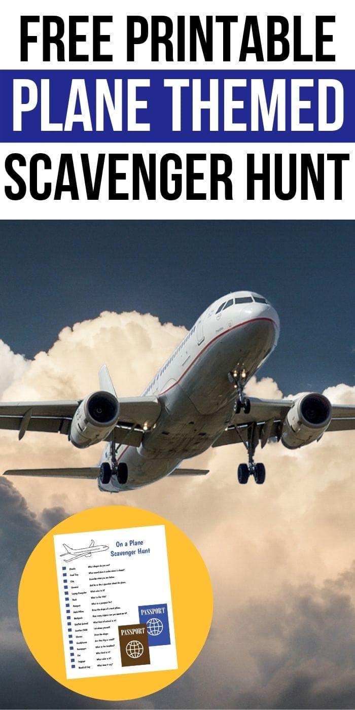 Free Printable Plane Scavenger Hunt | Scavenger Hunt On A Plane | Kids Scavenger Hunt | Easy Scavenger Hunt | Printable Scavenger Hunt | Kids Fun Scavenger Hunt | Flying Scavenger Hunt | #scavengerhunt #free #printable #easy #unique #plane