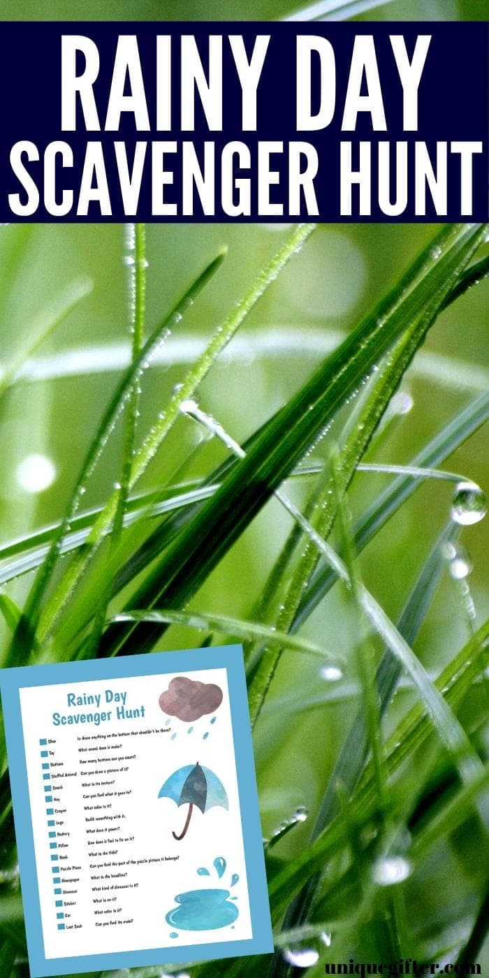 Free Printable Rainy Day Scavenger Hunt | Free Scavenger Hunt | Scavenger Hunt For Kids | Easy Scavenger Hunt | Rainy Day Fun | Rainy Day Activity | Kids Rainy Day Activity | #scavengerhunt #easy #rainyday #unique #fun
