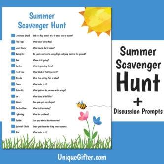 FREE Printable Summer Scavenger Hunt | Kids Scavenger Hunt | Summer Scavenger Hunt | Printable | Easy Scavenger Hunt | Unique Scavenger Hunt | #scavengerhunt #easy #fun #kids #summer