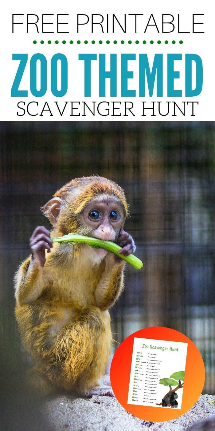 FREE Printable Zoo Scavenger Hunt | Free Scavenger Hunt | Zoo Scavenger Hunt | Easy Kids Scavenger Hunt | Animal Scavenger Hunt | Fun Scavenger Hunt | #scavengerhunt #easy #fun #activity #unique
