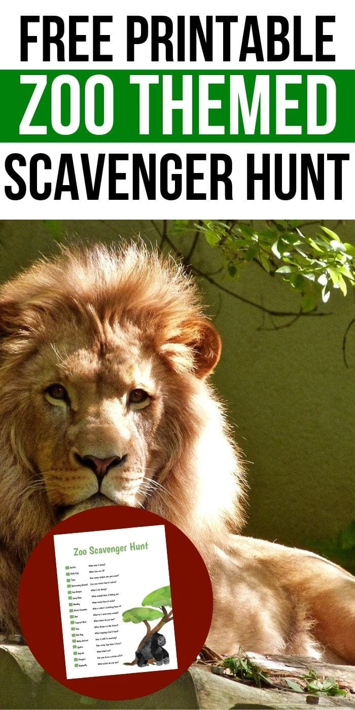 FREE Printable Zoo Scavenger Hunt | Free Scavenger Hunt | Zoo Scavenger Hunt | Easy Kids Scavenger Hunt | Animal Scavenger Hunt | Fun Scavenger Hunt | #scavengerhunt #easy #fun #activity #unique