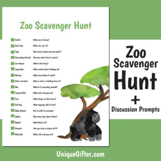 image relating to Zoo Scavenger Hunt Printable named Totally free Printable Zoo Scavenger Hunt Exclusive Gifter