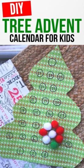 DIY Tree Advent Calendar For Kids   Kids Crafts   Christmas Craft   Kids Christmas Craft   #craft #kids #diy #advent #christmas