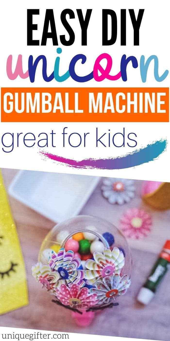 Creative DIY Unicorn Gumball Machine | DIY Gumball Machine | DIY Unicorn Craft | Unicorn Themed Craft | #gifts #craft #kids #easy #unicorn #creative #homemade #uniquegifter