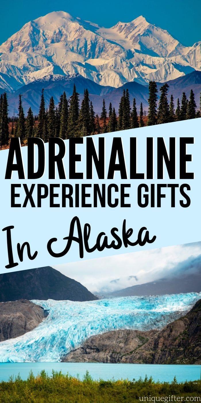 Adrenaline Junkie Experience Gifts in Alaska | Experience Gifts | Alaska Gifts | Experience Alaska Gifts | Creative Experience Gifts | Great White North Gift Ideas #gifts #giftguide #alaska #creative # experiencegifts #bucketlist