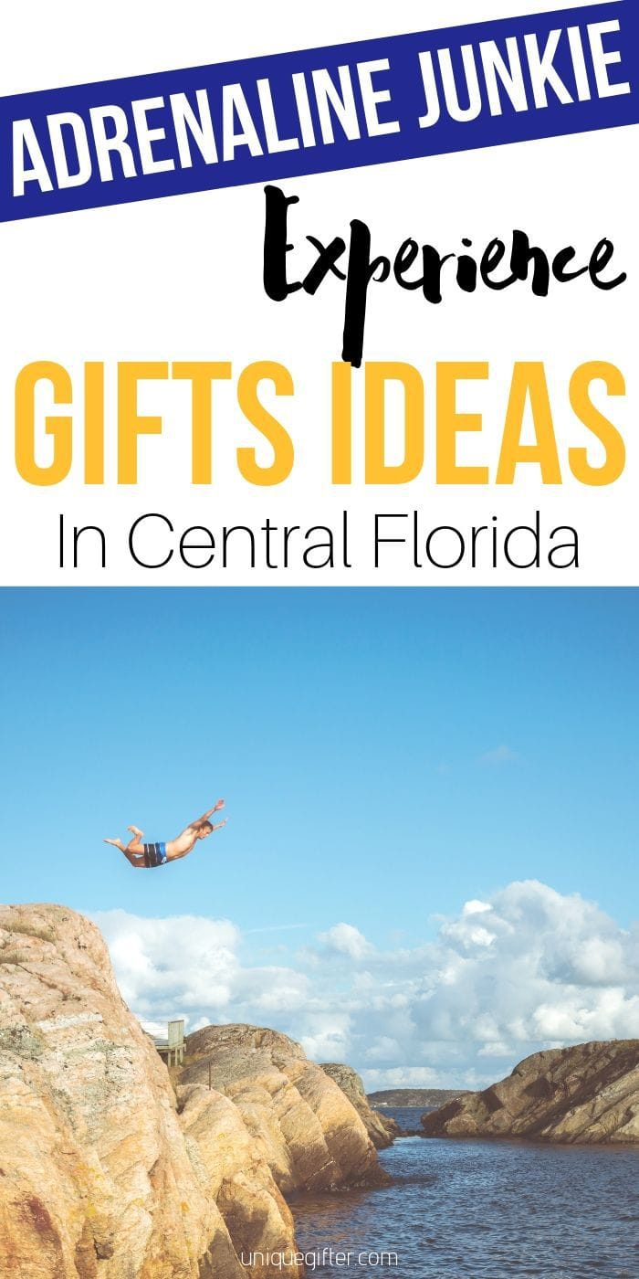 Adrenaline Junkie Experience Gifts In Florida that you're going to want to give as a Christmas present to your boyfriend, girlfriend or generally thrill seeking friend | Central Florida Experiences Gifts | Gifts Central Florida | Travel | Adrenaline Experiences | Unique Travel Gifts | #unique #adrenaline #travel #experiencegifts #florida
