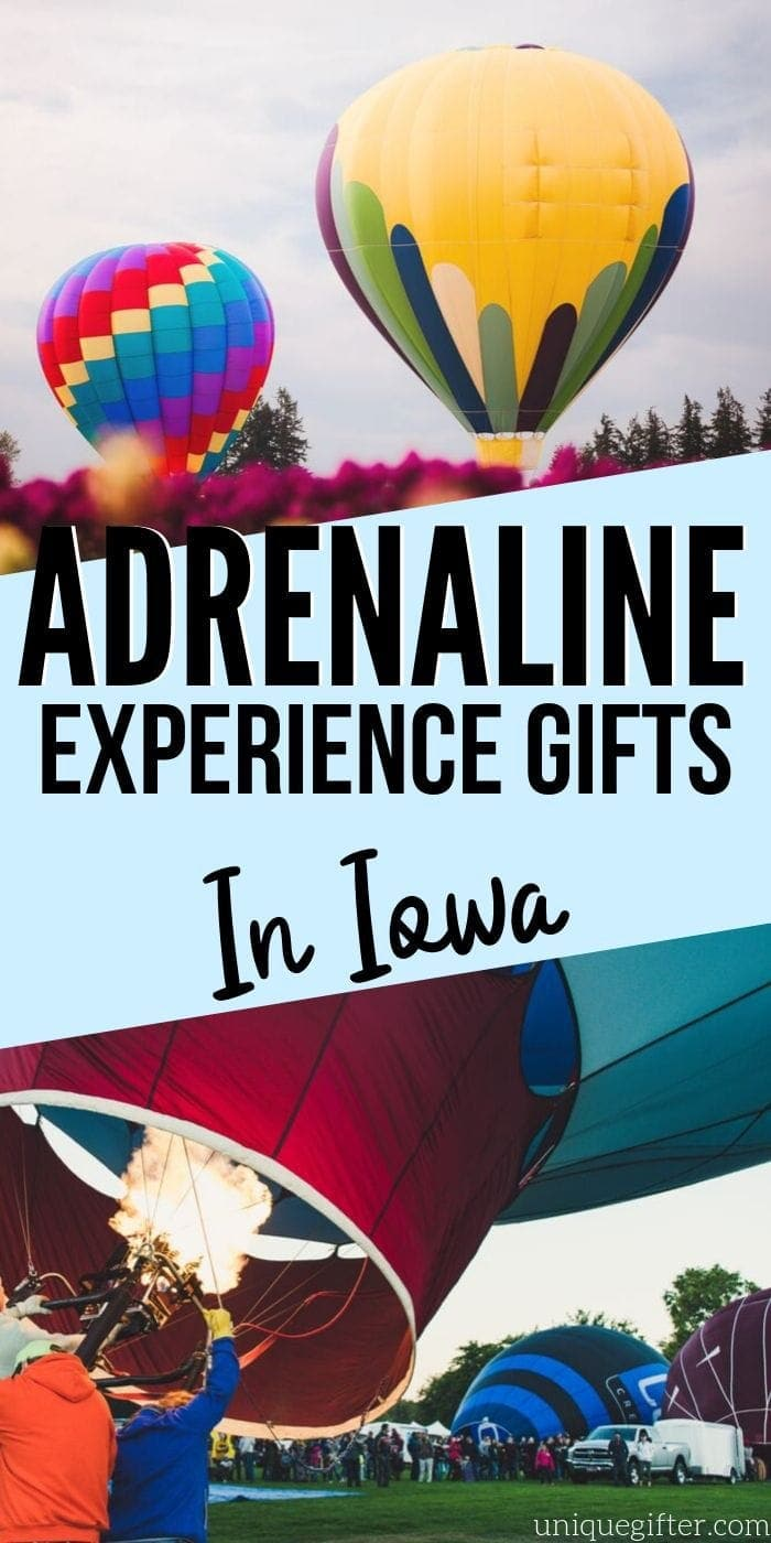 Adrenaline Junkie Experience Gifts in Iowa | Experience Gifts | Creative Experience Gifts | Unique Experience Gifts | Iowa Gifts | Experience Iowa Gifts | #gifts #giftguide #presents #iowa #experiencegifts