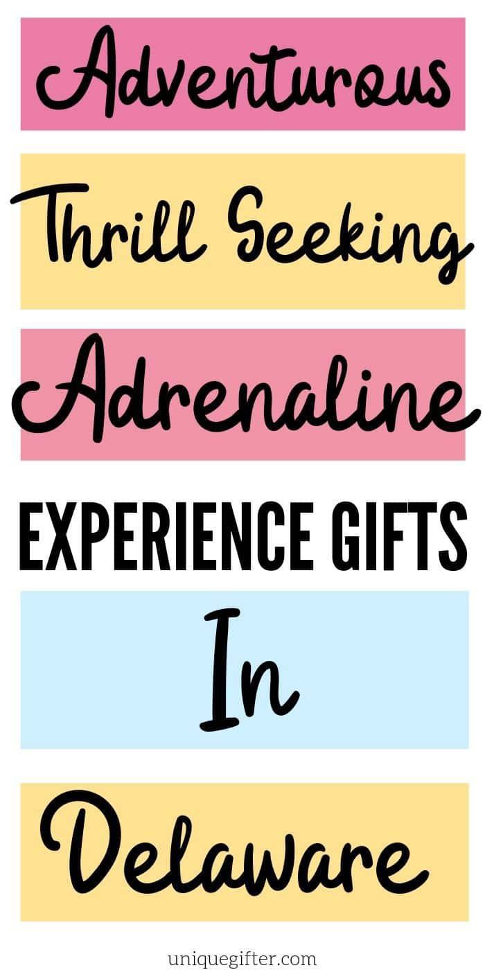 Adrenaline Junkie Experience Gifts in Delaware | Delaware Adventures | Experience Gifts | Delaware Experience Gifts | Delaware Presents | #gifts #giftguide #delaware #adventure #unique #bucketlist