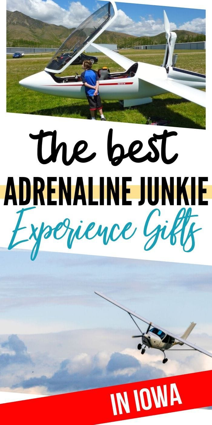 Adrenaline Junkie Experience Gifts in Iowa | Experience Gifts | Creative Experience Gifts | Unique Experience Gifts | Iowa Gifts | Experience Iowa Gifts | #gifts #giftguide #presents #iowa #experiencegifts #bucketlist
