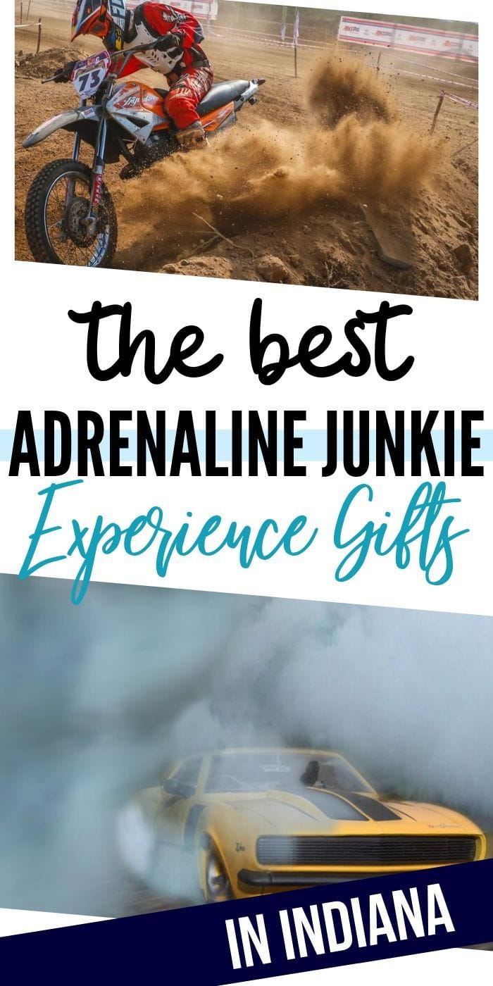 Adrenaline Junkie Experience Gifts in Indiana | Experience Gifts | Experience Presents | Indiana Gifts | Indiana Presents | Unique Experience Gifts | Creative Experience Gifts | #gifts #giftguide #presents #creative #indiana #bucketlist
