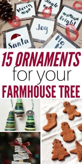 15+ DIY Ornaments For Your Farmhouse Tree   Christmas   Ornaments   Easy   Farmhouse Christmas   DIY Ornaments   Christmas Ornaments   #christmas #diy #easy #farmhouse #uniquegifter #rustic