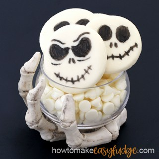 Jack Skellington Fudge for Halloween – How to make easy fudge! Video