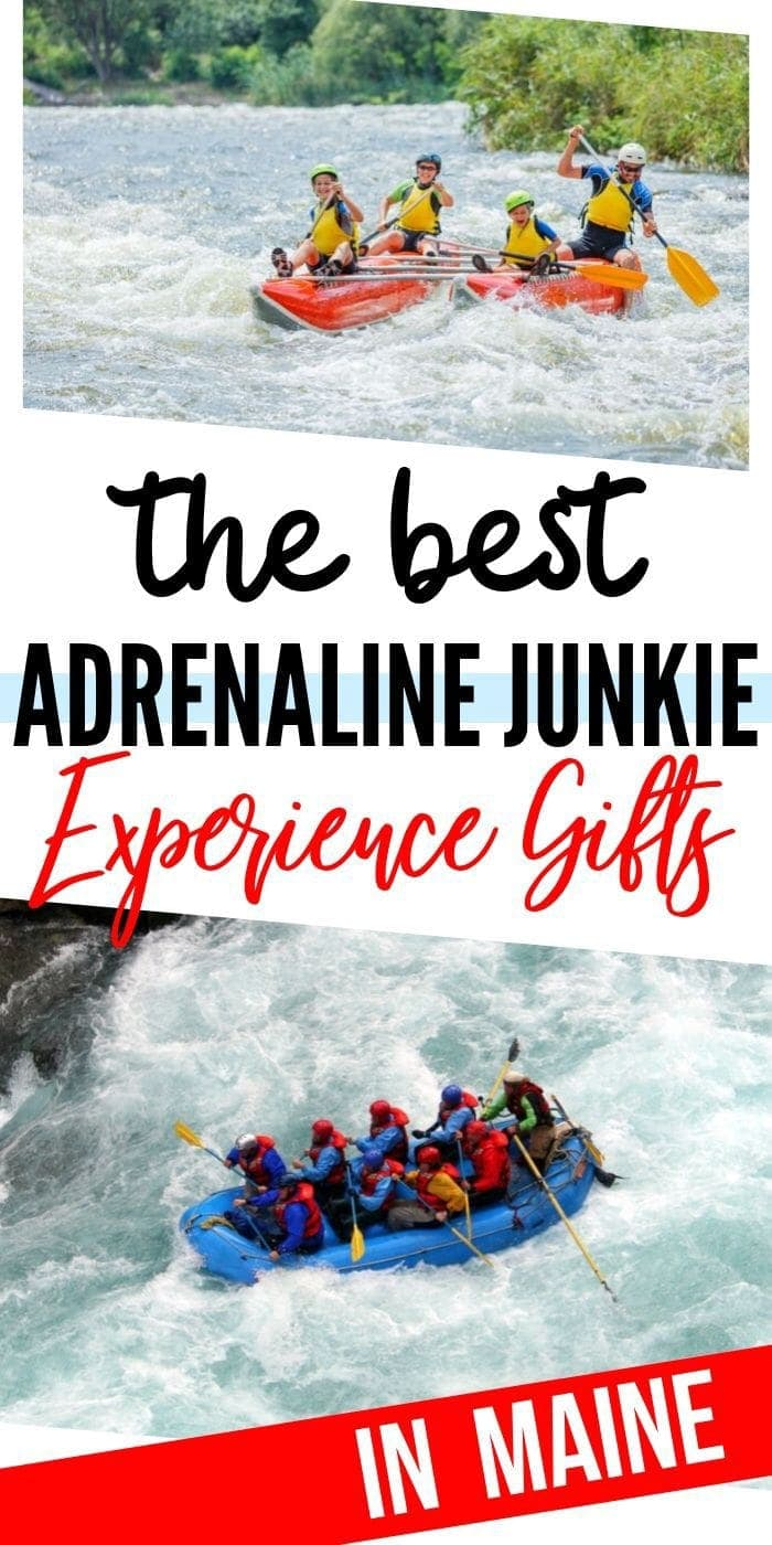 Adrenaline Junkie Experience Gifts in Maine | Maine Gifts | Maine Presents | Experience Gifts | Creative Gifts | Creative Presents | Unique Presents | Unique Gifts | #gifts #giftguide #presents #experience #uniquegifter #maine