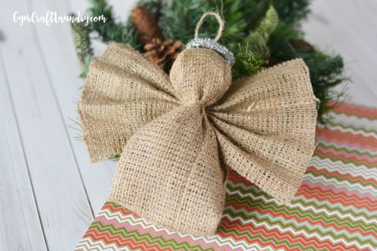 Easy Burlap Angel Ornament