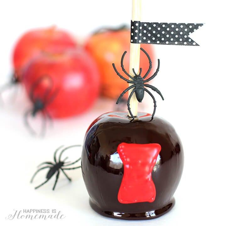 Black Widow Candy Apples