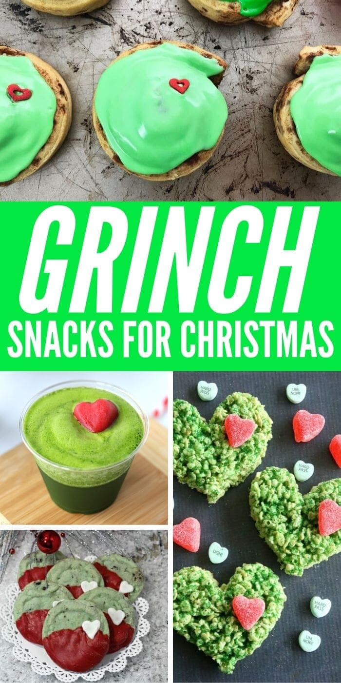 No More Grinchy Mood When You Try These Grinch Snacks | Grinch Themed Snacks | Grinch Food | Creative Grinch Food | Holiday Entertaining | Party Food | Unique Party Food | Christmas Food | #recipe #desserts #grinch #christmas #holiday #creative #uniquegifter
