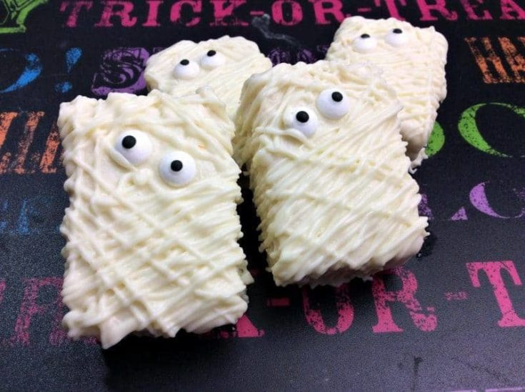Mummy Rice Krispies Treat Recipe for Halloween