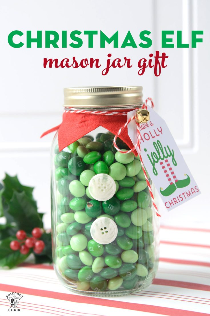 DIY Elf Mason Jars & Cute Christmas Gifts | Polka Dot Chair