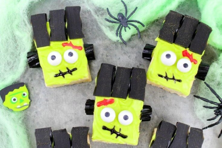 Frankenstein Monster Rice Krispies Treats