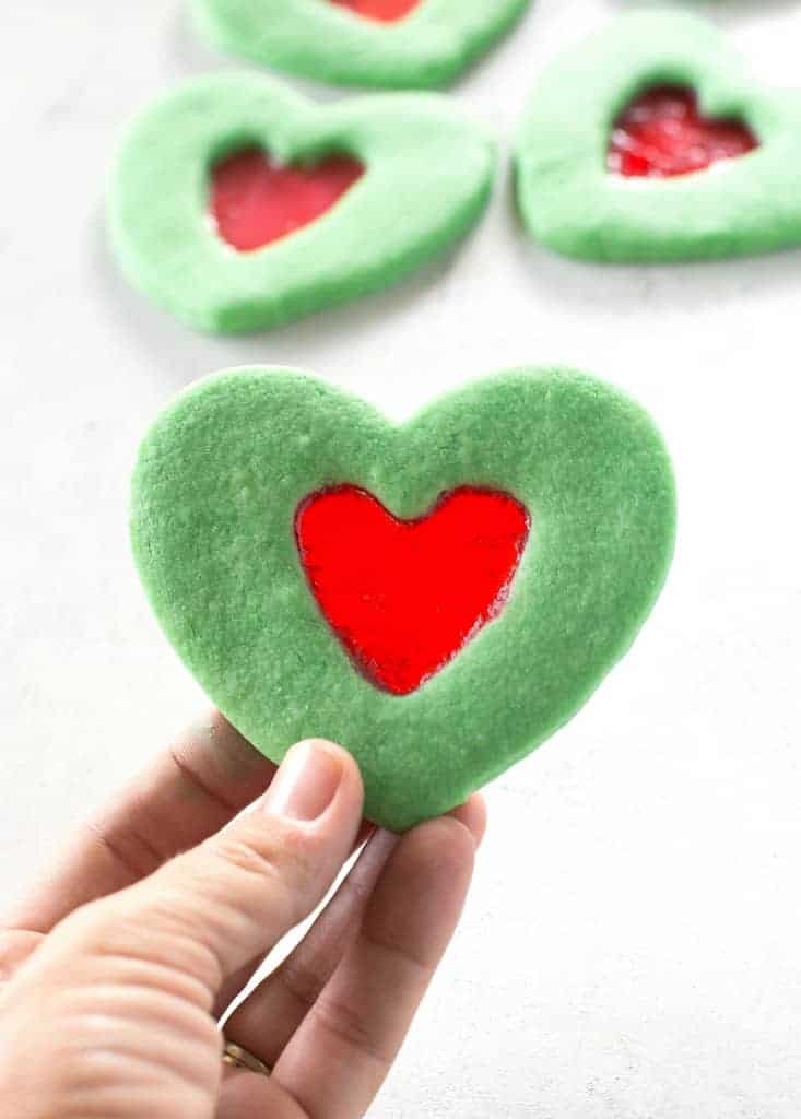 Grinch Heart Cookies - The Girl Who Ate Everything