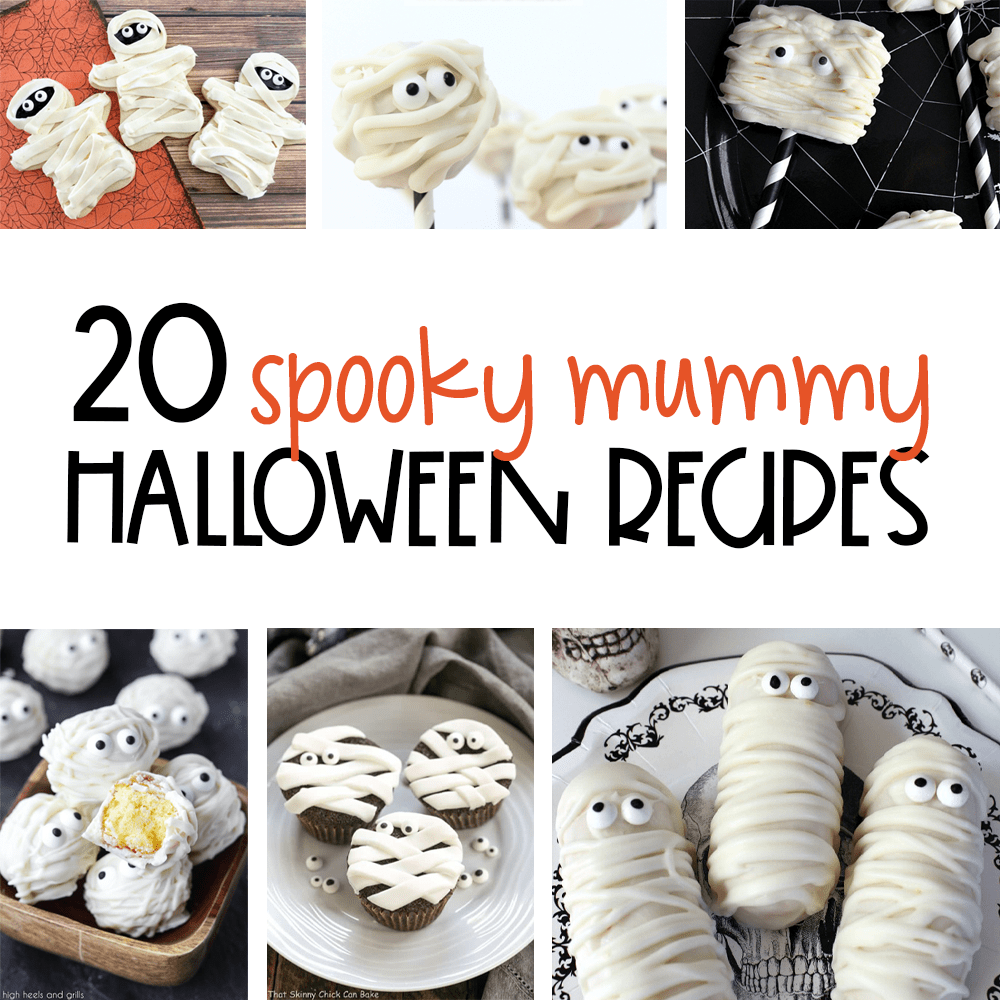 Halloween Mummy Recipes | Halloween Food | Decorative Halloween Recipes | Mummy Themed Recipes | Creative Mummy Recipes | #food #halloween #recipes #mummy #easy #creative #uniquegifter