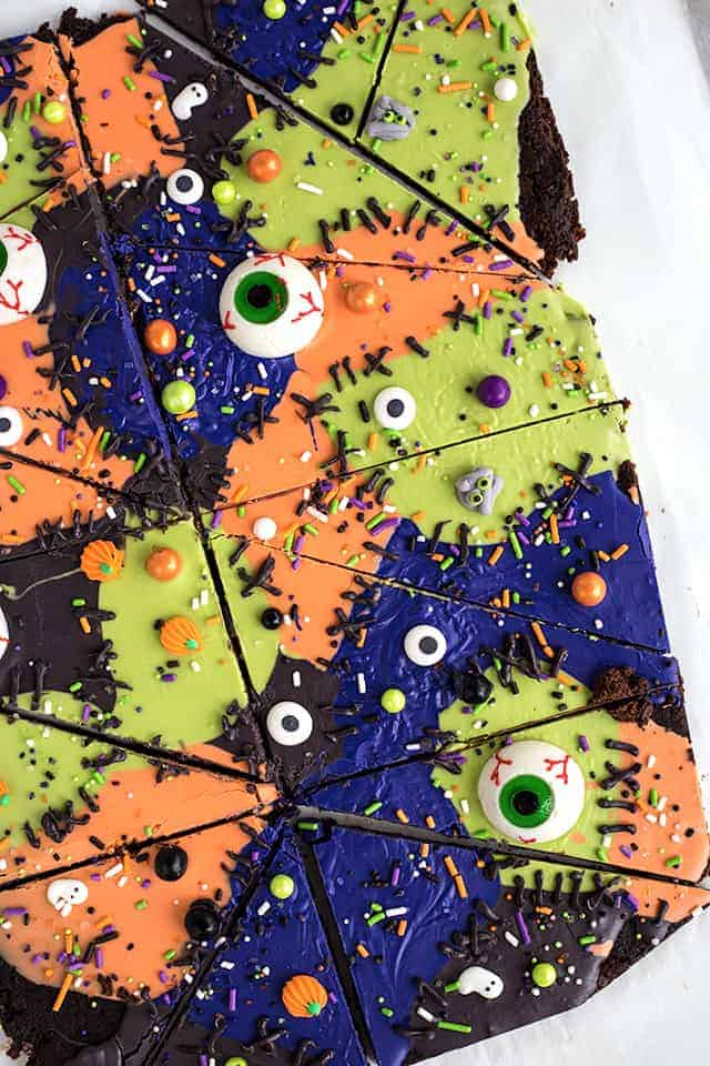 Monster Mashup Brownie Bark