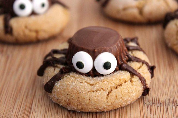 Halloween Cookies | Peanut Butter Spider Cookies