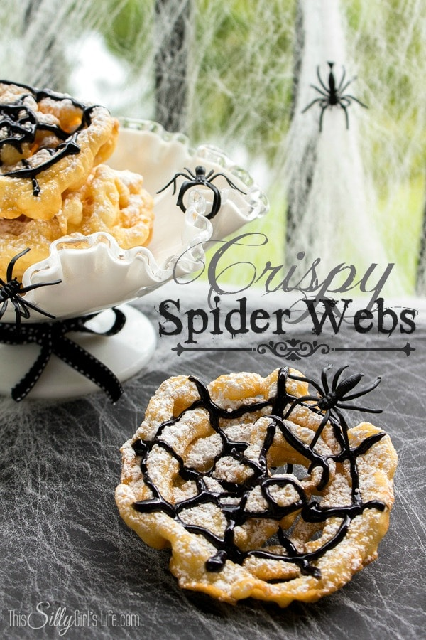 Crispy Spider Webs {Mini Funnel Cakes}