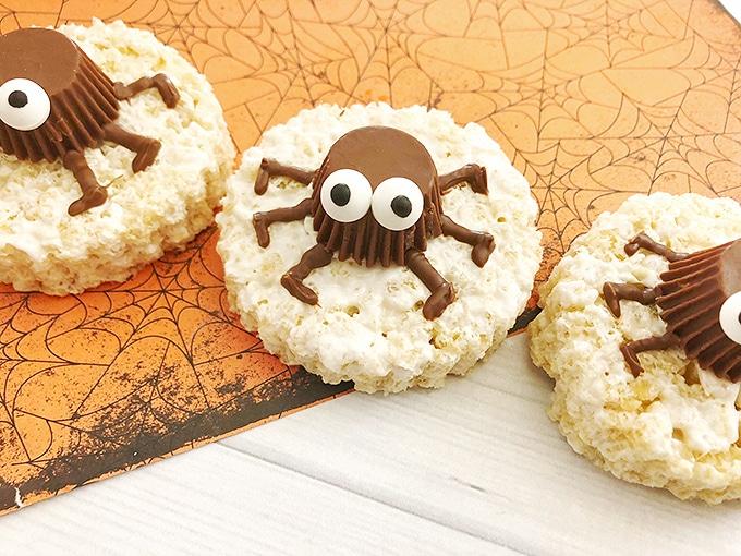 Spooky Spider Rice Krispies Treats