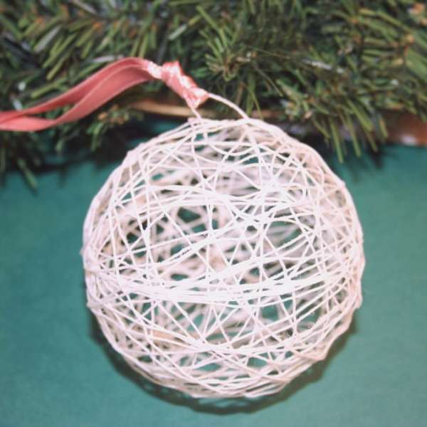 Starched String Christmas Ball