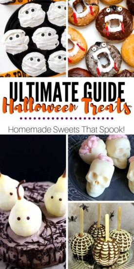 HomemadeHalloweenTreats | Halloween Snacks | Halloween Party Food | Halloween Treats | Easy Halloween Treats | Allergy-Friendly Halloween Food | #recipes #halloween #partyfood #easy #uniquegifter #creative #ghosts #spiders