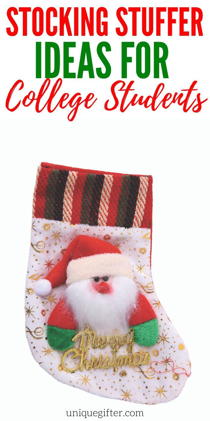 Stocking Stuffer Ideas for College Students | College Student Gifts | Gifts For Older Kids | Stocking Stuffers | Creative Stocking Stuffers | Unique Stocking Stuffers | #gifts #giftguide #presents #collegestudents #stockingstuffer #stocking #unqiuegifter