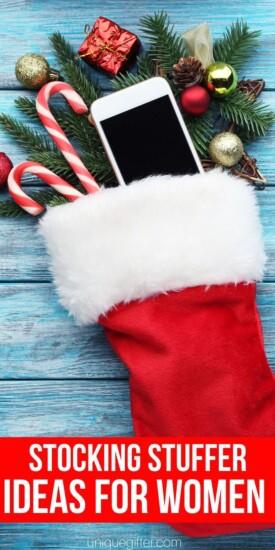 Stocking Stuffer Ideas For Womenfts For women   Stocking Stuffers   Women Stocking Stuffers   Creative Stocking Stuffers   Unique Stocking Stuffers For Women   #gifts #giftguide #presents #stocking #women #uniquegifter