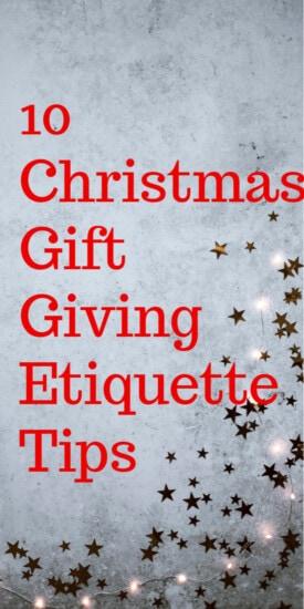 Christmas Gift Giving Etiquette Tips