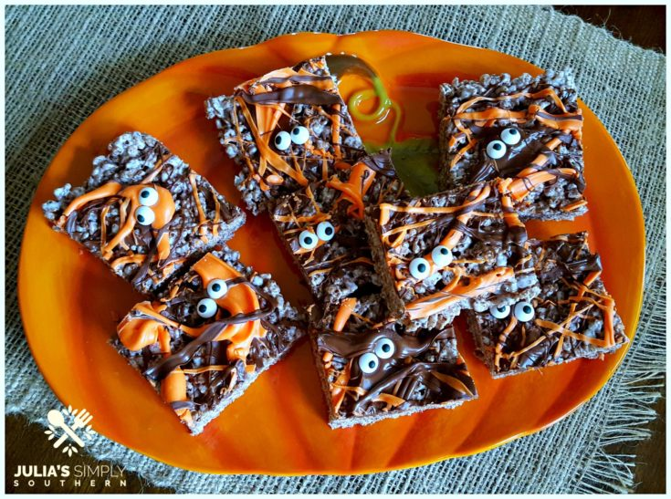 Death by Chocolate Halloween Krispie Treats