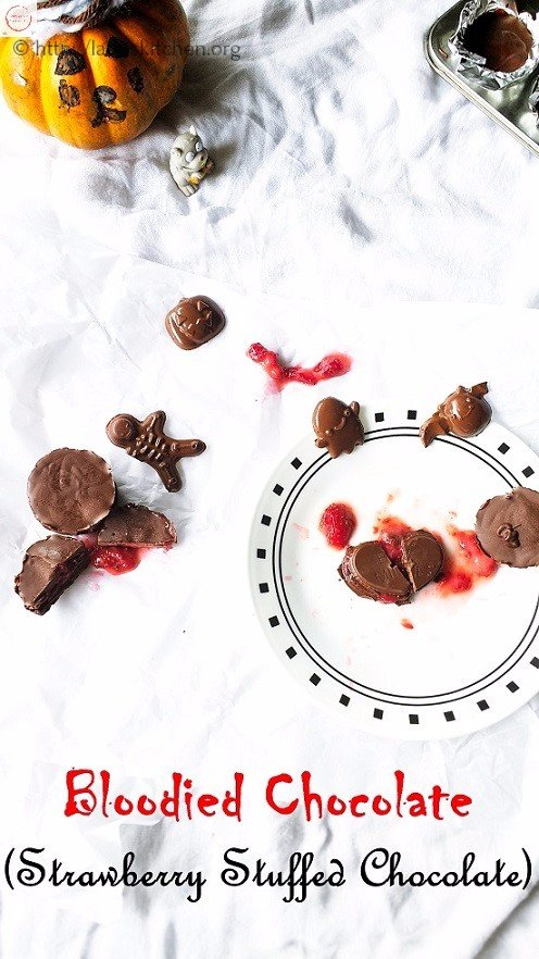 Bloodied Chocolate – Strawberry Jam Stuffed Chocolate