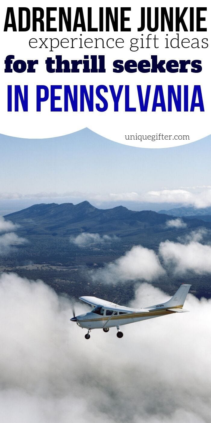Adrenaline Junkie Experience Gifts in Pennsylvania | Pennsylvania Gifts | Creative Adventure Gifts | Experience Gifts | Experience Gift Ideas | Easy Gift Ideas | #gifts #giftguide #presents #adventure #experience #creative #uniquegifter #holidays