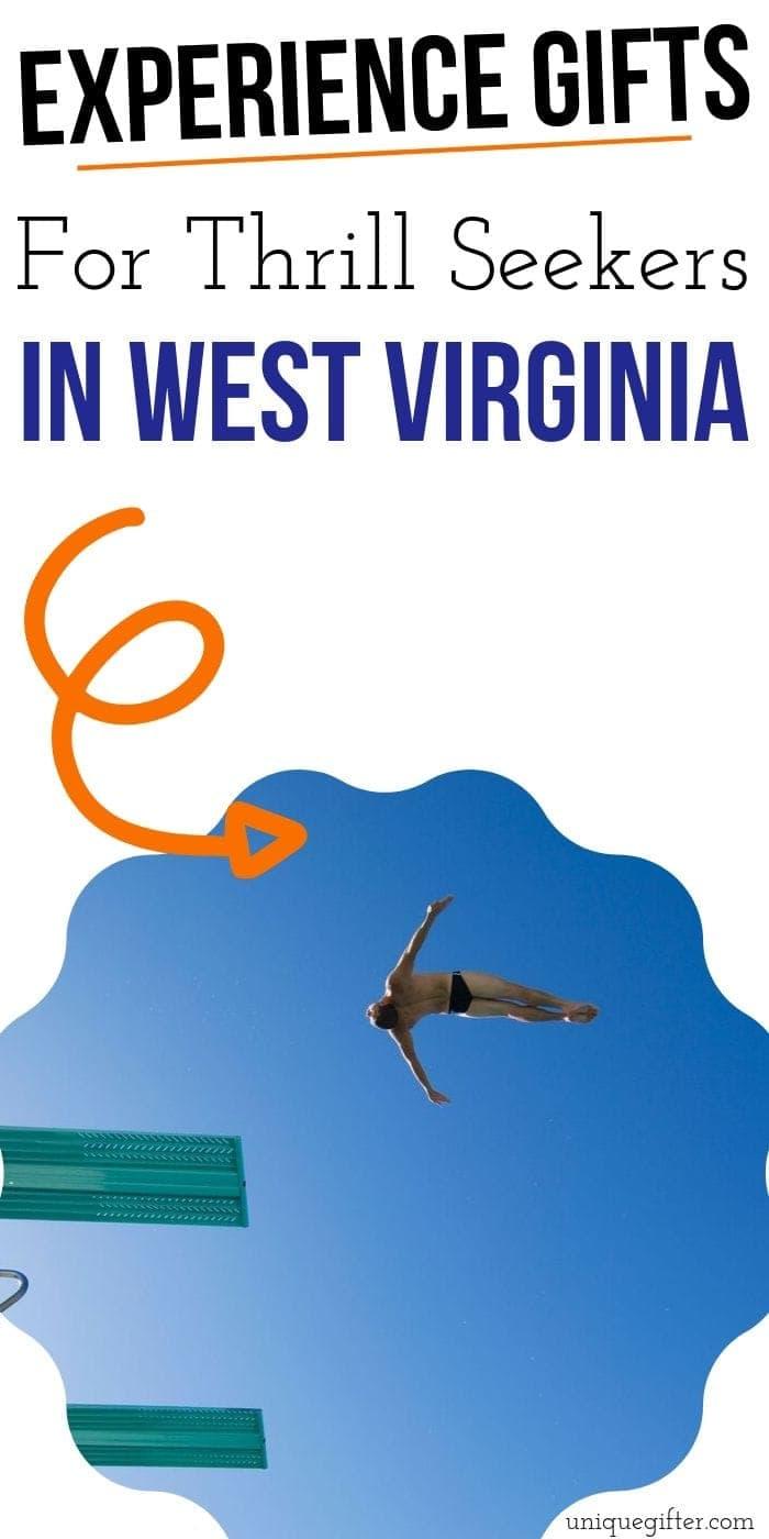 Adrenaline Junkie Experience Gifts in West Virginia   West Virginia Gifts   Adventure Gifts   Experience Gifts   Creative Experience Gifts   #gifts #giftguide #presents #uniquegifter #westvirginia #adventure #experience