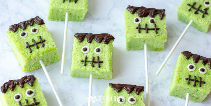 Frankenstein Monster Halloween Cake Pops