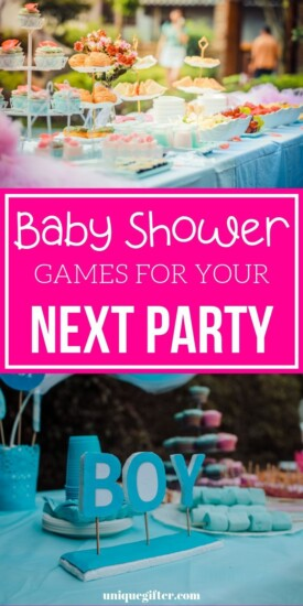 Baby Shower Games for Your Next Party | Games For Baby Shower | Baby Shower Games | Baby Shower Fun | Unique Baby Shower Fun | #baby #babyshower #shower #games #fun #uniquegifter #party