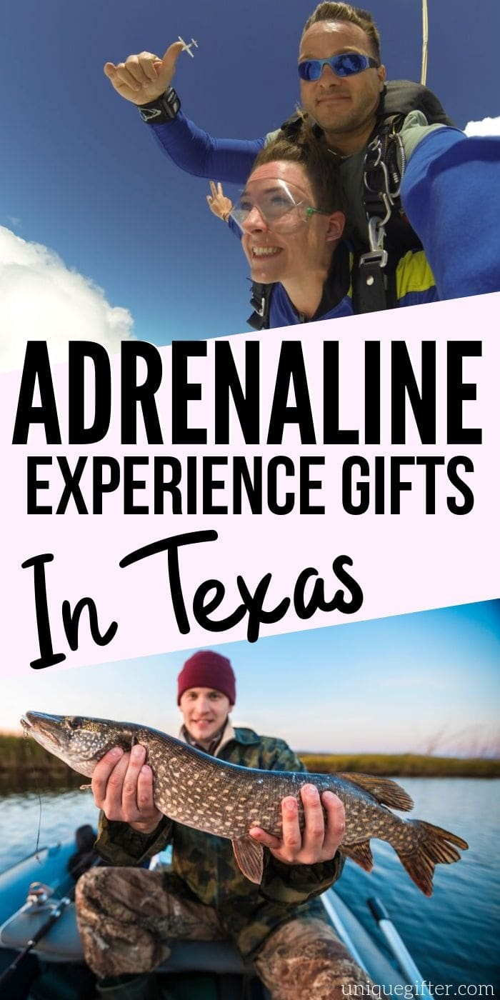 Adrenaline Junkie Experience Gifts in Texas | Texas Gifts | Gifts For Texans | Presents For Texans | Texas Presents | Experience Gifts | Adventure Gifts | #gifts #giftguide #presents #adventure #experience #texas #uniquegifter