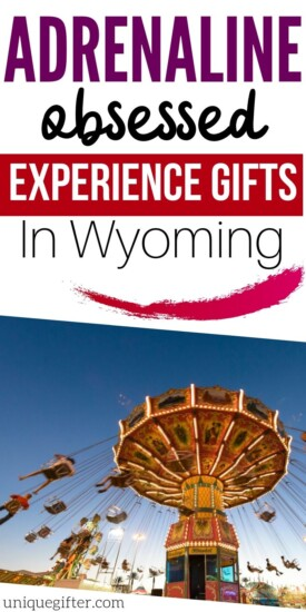 Adrenaline Junkie Experience Gifts in Wyoming | Wyoming Gifts | Gifts For Wyoming Fans | Wyoming Adventures | #gifts #giftguide #wyoming #adventure #experience #uniquegifter