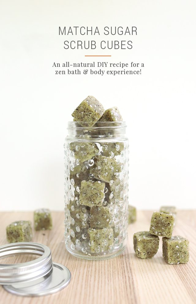 DIY Matcha Green Tea Sugar Scrub Cubes