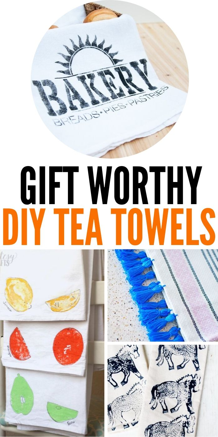 The Best Gift Worthy DIY Tea Towels | DIY Towels | DIY Gift Giving | DIY Project | DIY Towels For Kitchen | #gifts #giftguide #presents #uniquegifter #easy #towels
