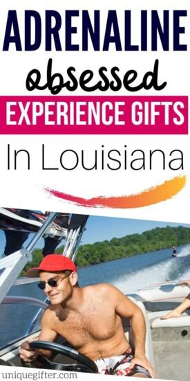 Adrenaline Junkie Gift Ideas in Louisiana   Louisiana Gift Ideas   Exciting Gifts   Unique Gifts   Adventure Gift Ideas   Experience Gifts   #gifts #giftguide #presents #experience #adventure #thrilling #uniquegifter