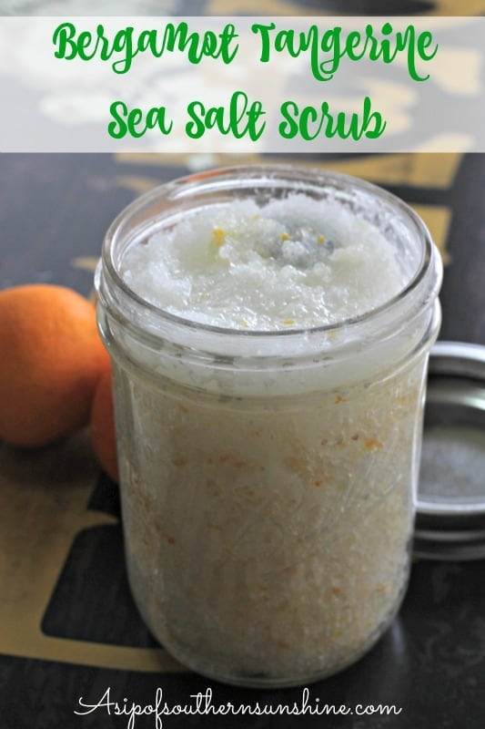 Bergamot and Tangerine Sea Salt Scrub
